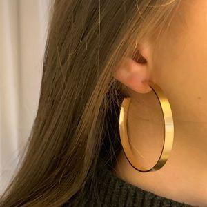 Jewelry - Flat Gold Hoops